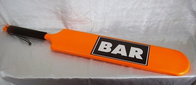 woodrage bar spanking paddle with logo 2