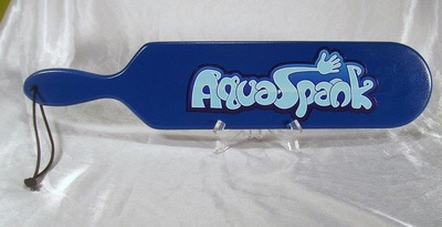 woodrage aquaspank spanking paddle with band logo